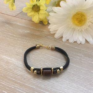 Tribal Leather Beaded Bohemian Bracelet!